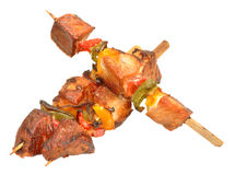 Cooked Pork Kebabs royalty free stock photo