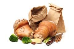 Cooked pork (leg) Stock Photos