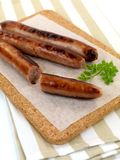 Cooked Pork Sausages Royalty Free Stock Photography