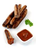 Cooked Pork Sausages Stock Photo