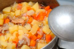Cooked potato delicacy Stock Images