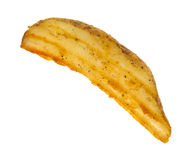 Cooked potato wedge on white background Royalty Free Stock Image