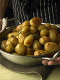 Cooked potatoes royalty free stock photos
