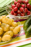 Cooked potatoes Stock Photography