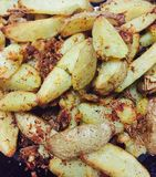 Cooked potatoes Stock Images