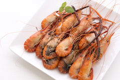 The cooked prawn Royalty Free Stock Images