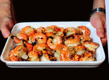 Cooked Prawns stock images