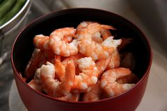 Cooked prawns Stock Photography