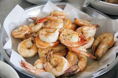 Cooked Prawns for Chinese Dish Closeup Royalty Free Stock Images