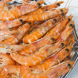Cooked prawns Stock Photos