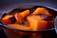 Cooked pumpkin Stock Images
