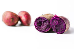 Cooked purple potato isolated Royalty Free Stock Images