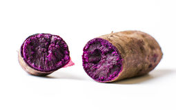 Cooked purple potato isolated Stock Photos
