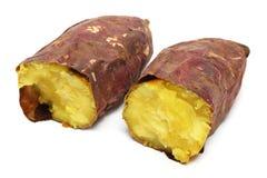 Cooked Purple Sweet Potato Stock Photography