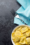 Cooked ravioli pasta in bowl Royalty Free Stock Photos