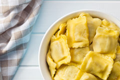 Cooked ravioli pasta in bowl Royalty Free Stock Photo