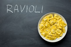 Cooked ravioli pasta Royalty Free Stock Images