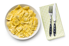 Cooked ravioli on plate Royalty Free Stock Images