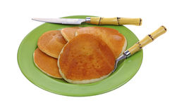 Cooked Ready Serve Frozen Pancakes Stock Photography