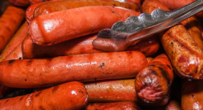 Cooked and ready to eat beef franks Royalty Free Stock Image