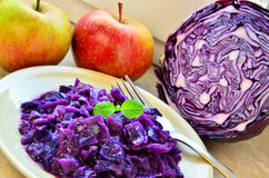 Cooked red cabbage Royalty Free Stock Photo