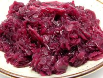 Cooked red cabbage Stock Image
