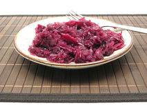 Cooked red cabbage Royalty Free Stock Photos