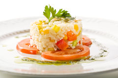 Cooked Rice with Tomato Stock Photos