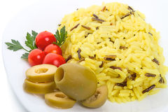Cooked rice with vegetables Royalty Free Stock Image