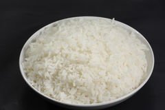 Cooked rice in a white bowl Royalty Free Stock Photography