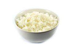 Cooked Rice in a White Bowl Stock Images