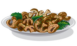 Cooked roasted mushrooms Royalty Free Stock Photos