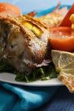 Cooked rockfish closeup Stock Photos