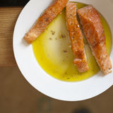 Cooked salmon Stock Photos