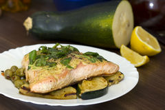 Cooked salmon Stock Image