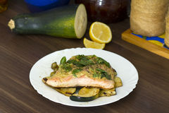 Cooked salmon Royalty Free Stock Image
