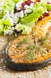 Cooked salmon Royalty Free Stock Images