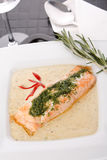 Cooked salmon fillets Stock Images