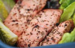 Free Cooked Salmon Fish Stock Photo - 144707310