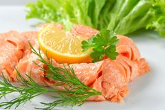 Cooked salmon Stock Photo