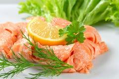 Cooked salmon Stock Photo