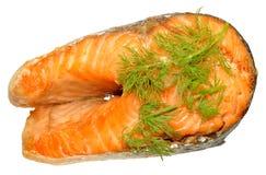 Cooked Salmon Steak Stock Image