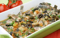 Cooked sardines Stock Photography