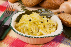 Cooked sauerkraut, traditional german meal Royalty Free Stock Photos
