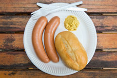Cooked sausage Royalty Free Stock Images