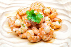 Cooked scampi Royalty Free Stock Photos
