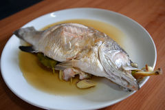 Cooked seabass Royalty Free Stock Photography