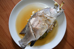 Cooked seabass Royalty Free Stock Images