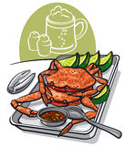 Cooked seafood crabs Royalty Free Stock Photo