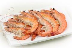 Cooked shrimp Stock Photos